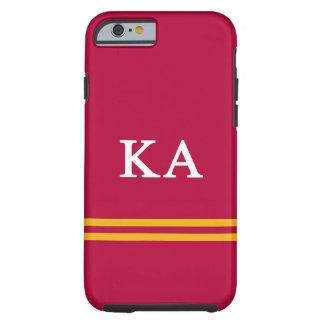 Capa Tough Para iPhone 6 Listra alfa do esporte da ordem   do Kappa