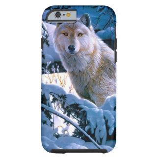 Capa Tough Para iPhone 6 Lobo ártico - lobo branco - arte do lobo