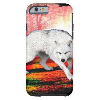 Capa Tough Para iPhone 6 Lobo branco - lobo ártico - lobo americano