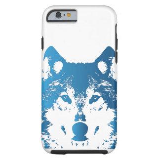 Capa Tough Para iPhone 6 Lobo do azul de gelo da ilustração