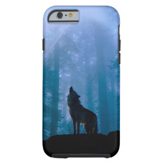 Capa Tough Para iPhone 6 Lobo do urro - lobo selvagem - lobo da floresta