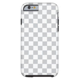 Capa Tough Para iPhone 6 Luz - tabuleiro de damas cinzento