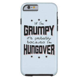 Capa Tough Para iPhone 6 MAL-HUMORADO porque HUNGOVER (preto)