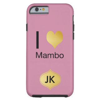 Capa Tough Para iPhone 6 Mambo Playfully elegante do coração de I