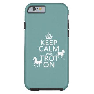 Capa Tough Para iPhone 6 Mantenha a calma e trote sobre - cavalos - todas