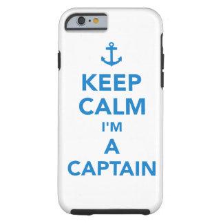 Capa Tough Para iPhone 6 Mantenha a calma que eu sou um capitão