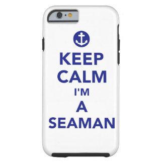 Capa Tough Para iPhone 6 Mantenha a calma que eu sou um marinheiro