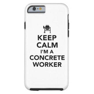 Capa Tough Para iPhone 6 Mantenha a calma que eu sou um trabalhador