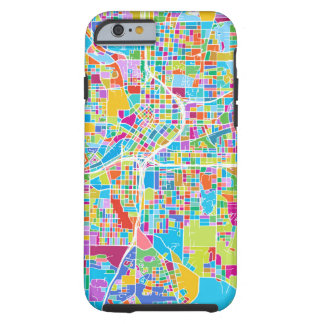 Capa Tough Para iPhone 6 Mapa colorido de Atlanta