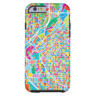 Capa Tough Para iPhone 6 Mapa colorido de Denver