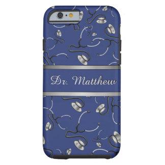 Capa Tough Para iPhone 6 Médico, enfermeira, medique estetoscópios