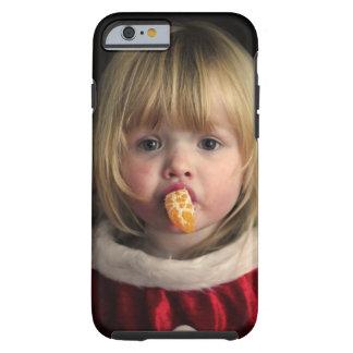 Capa Tough Para iPhone 6 Menina do Natal - criança do Natal - menina bonito