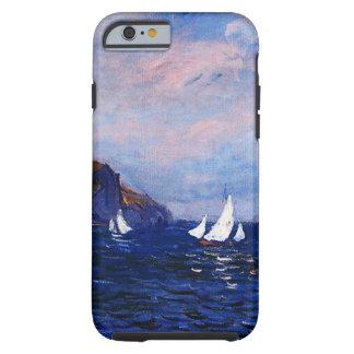 Capa Tough Para iPhone 6 Monet-Penhascos e veleiros de Claude em Pourville