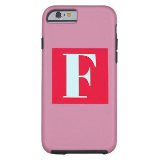 Capa Tough Para iPhone 6 Monograma brilhante e elegante do alfabeto