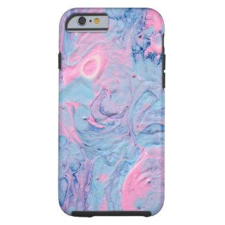 Capa Tough Para iPhone 6 O acrílico azul e cor-de-rosa derrama o design