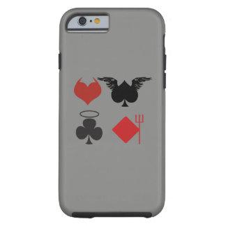 Capa Tough Para iPhone 6 O anjo e o diabo cardam a obscuridade dos ternos -
