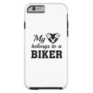 Capa Tough Para iPhone 6 O coração pertence motociclista