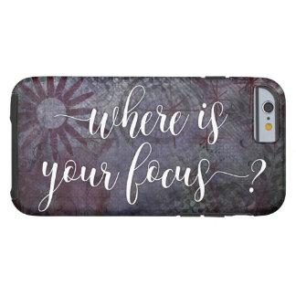 Capa Tough Para iPhone 6 Onde está seu foco? Abstrato rústico 2 da