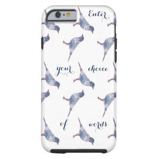 Capa Tough Para iPhone 6 Palavras dos pássaros