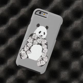 Capa Tough Para iPhone 6 Panda que come a ilustração de bambu