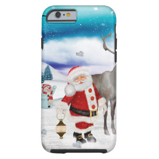 Capa Tough Para iPhone 6 Papai Noel engraçado