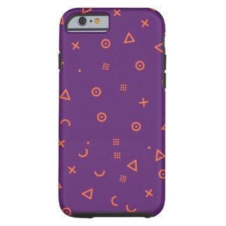 Capa Tough Para iPhone 6 Partículas felizes roxas