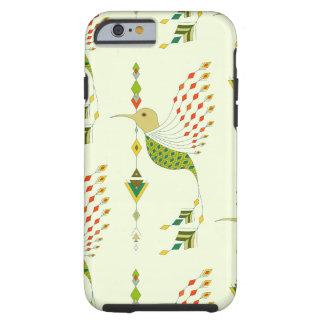 Capa Tough Para iPhone 6 Pássaro asteca tribal étnico do vintage