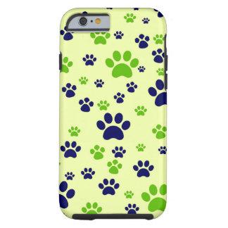 Capa Tough Para iPhone 6 Patas do filhote de cachorro