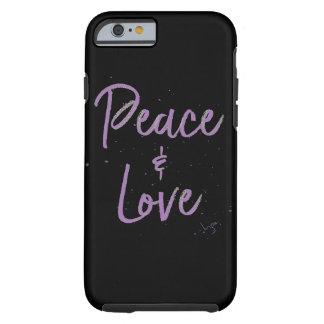 Capa Tough Para iPhone 6 Paz-e-Amor-Roxo