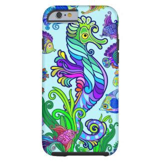 Capa Tough Para iPhone 6 Peixes exóticos & cavalos marinhos da vida marinha