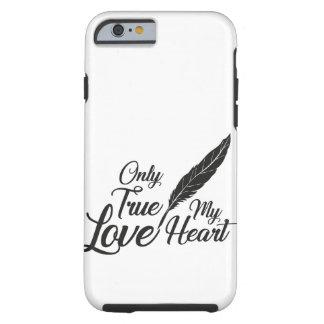 Capa Tough Para iPhone 6 Pena verdadeira do amor da ilustração