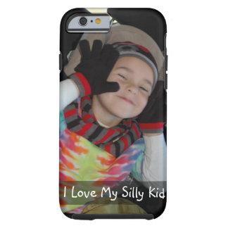 Capa Tough Para iPhone 6 Personalize com a foto de seu miúdo engraçado