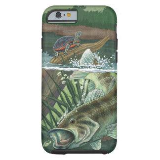Capa Tough Para iPhone 6 Pesca da perda Largemouth