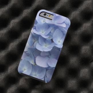 Capa Tough Para iPhone 6 Pétalas azuis do Hydrangea