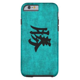 Capa Tough Para iPhone 6 Pintura do caráter chinês para o sucesso no azul