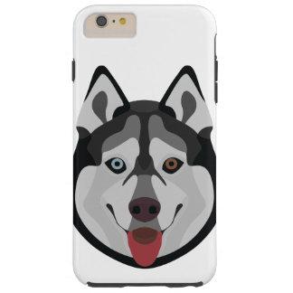 Capa Tough Para iPhone 6 Plus A ilustração persegue o rouco Siberian da cara