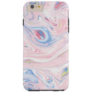 Capa Tough Para iPhone 6 Plus Arte moderna elegante Pastel do mármore luxuoso do