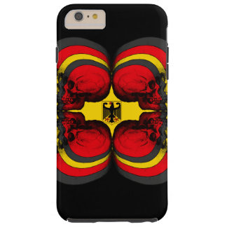 Capa Tough Para iPhone 6 Plus Bandeira do alemão do mundo do crânio