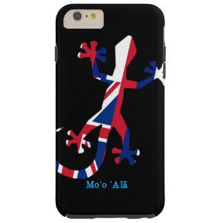 Capa Tough Para iPhone 6 Plus Bandeira do geco de Havaí