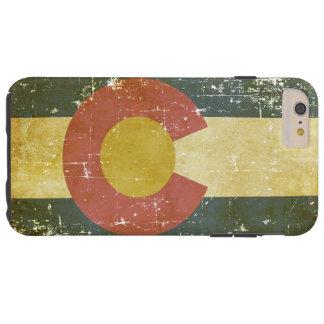 Capa Tough Para iPhone 6 Plus Bandeira patriótica de papel gasta do estado de