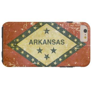 Capa Tough Para iPhone 6 Plus Bandeira patriótica gasta do estado de Arkansas