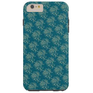 Capa Tough Para iPhone 6 Plus Bege floral do Mini-impressão do estilo étnico na