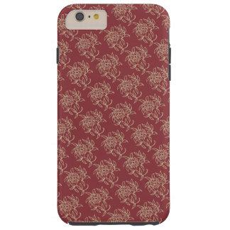 Capa Tough Para iPhone 6 Plus Bege floral do Mini-impressão do estilo étnico no