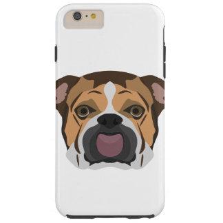 Capa Tough Para iPhone 6 Plus Buldogue do inglês da ilustração