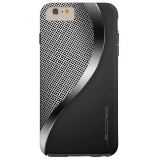 Capa Tough Para iPhone 6 Plus caixa escura com placa e os parafusos perfurados