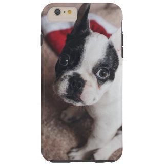 Capa Tough Para iPhone 6 Plus Cão de Papai Noel - pug engraçado - persiga claus