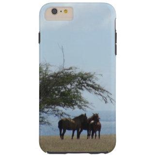 Capa Tough Para iPhone 6 Plus Cavalos tropicais da praia na praia