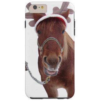 Capa Tough Para iPhone 6 Plus Cervos do cavalo - cavalo do Natal - cavalo