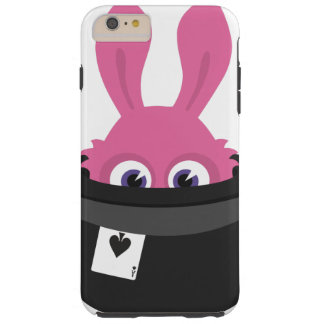 Capa Tough Para iPhone 6 Plus Coelho cor-de-rosa bonito para o felz pascoa