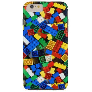 Capa Tough Para iPhone 6 Plus Construção dos tijolos da construção dos blocos de